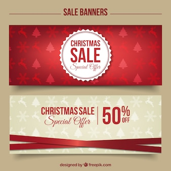 Stylish christmas discount banners