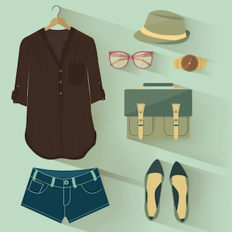 Stylish clothes and accessories