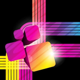 Stylish colorful background with 3d cubes