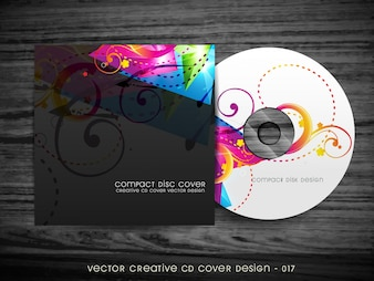Stylish colorful cd cover design