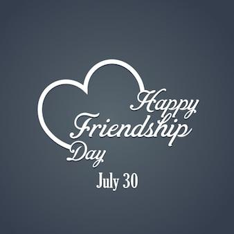 Stylish friendship day background