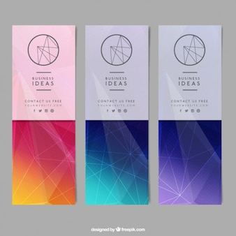 Stylish geometrical banners with lines