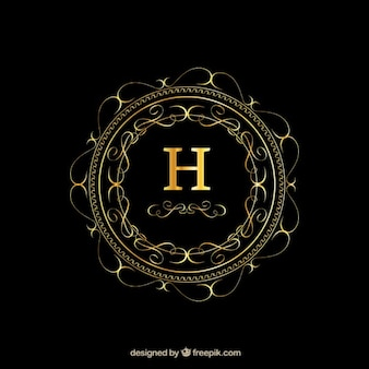 Stylish golden logo template