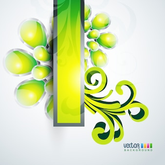 Stylish green abstract background