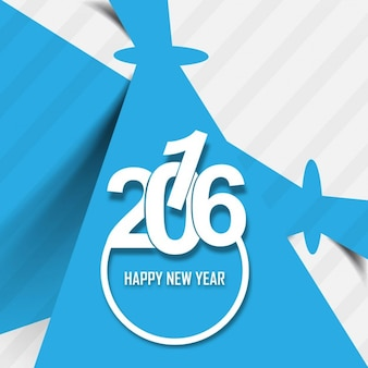 Stylish greeting card of new year 2016