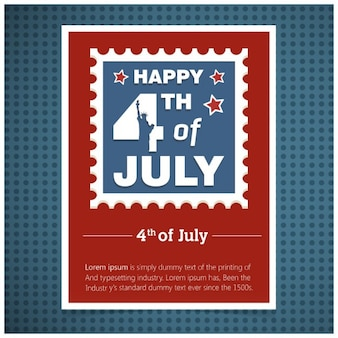 Stylish invitation card for 4th of july