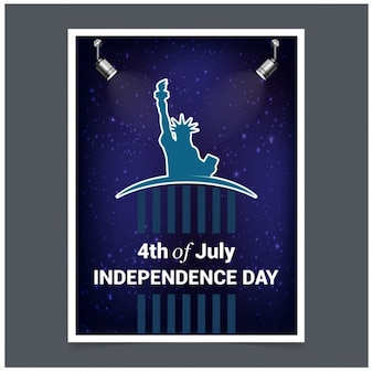 Stylish invitation card for american independence day party