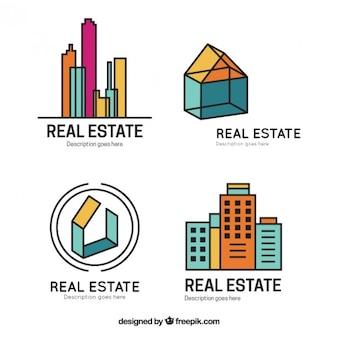 Stylish modern real estate logos