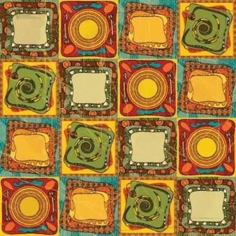 stylish ornamental Australian design patterns vector background