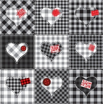 stylish patchwork illustrator vector pack
