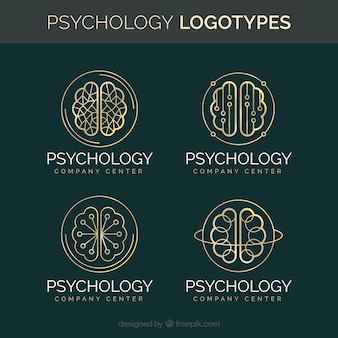 Stylish psychology logo collection