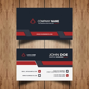 Stylish red business card