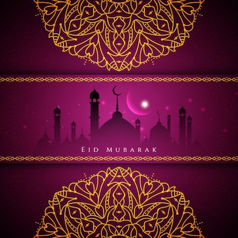 Stylish religious eid mubarak background