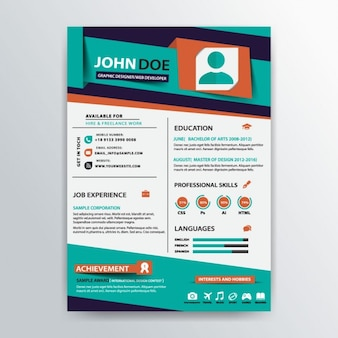 Stylish resume template