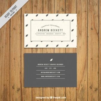 Stylish retro business card