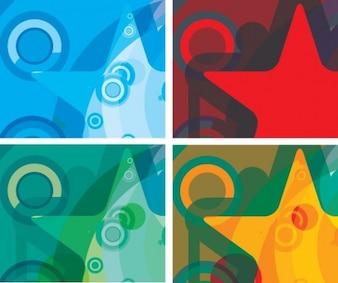 stylish star design background vector