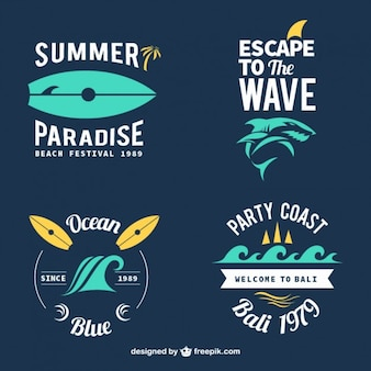 Stylish surf badges