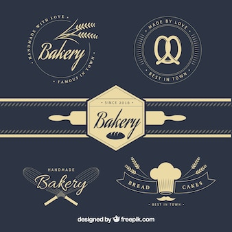 Stylish vintage bakery logos