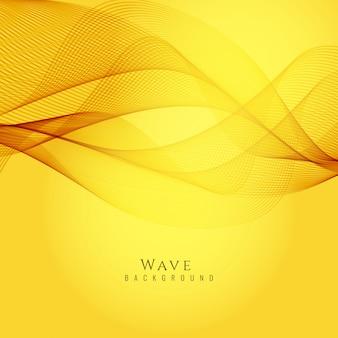 Stylish yellow wavy background