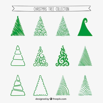 Stylized christmas tree collection