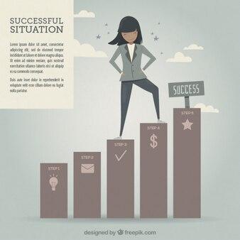 Successful woman illustration