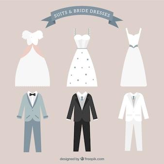 Suits & bride dresses collection
