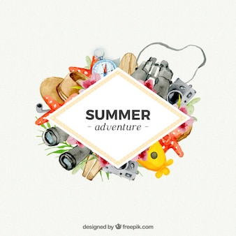 Summer adventure with watercolors
