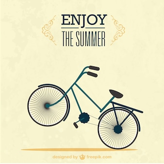 Summer background with beautiful bicycle