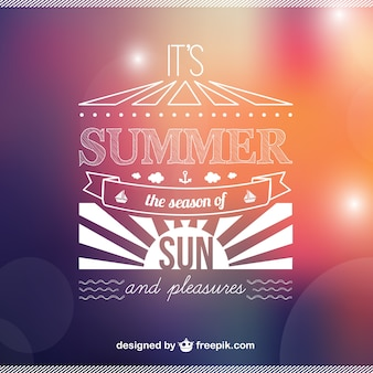 Summer background with white sun and bokeh effect