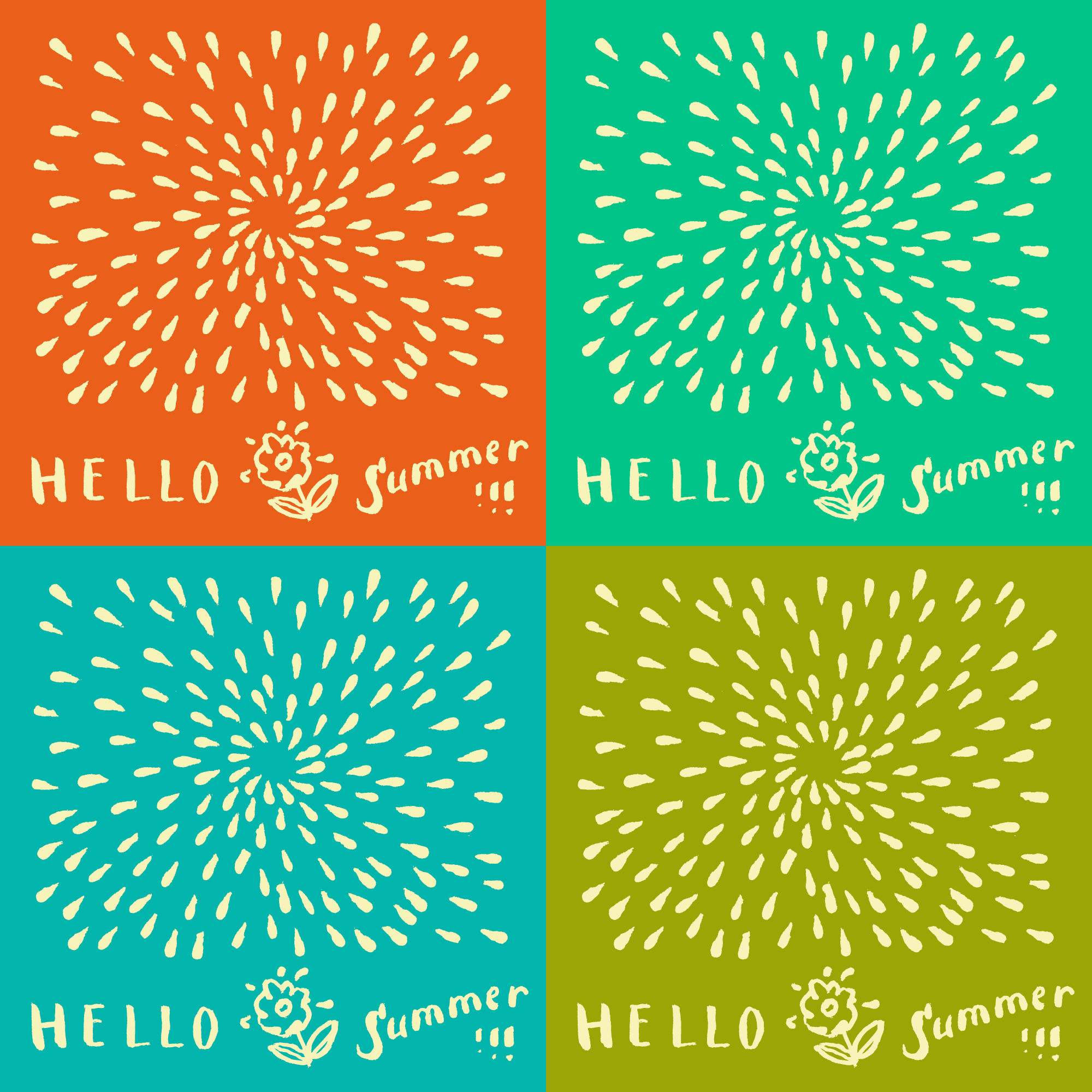 Summer backgrounds collection