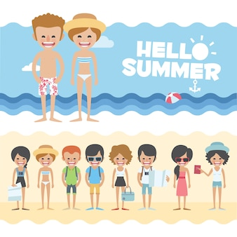Summer banners design