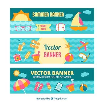 Summer  banners set