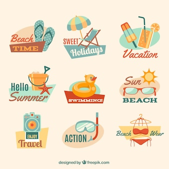 Summer beach badges