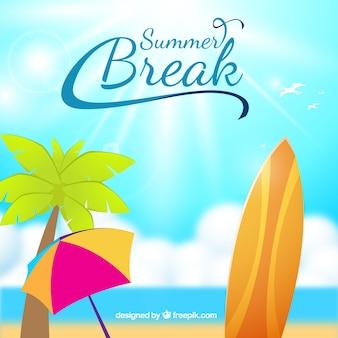 Summer break background