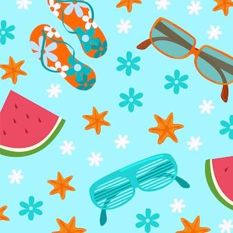 Summer elements background
