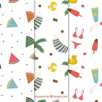 Summer elements pattern background