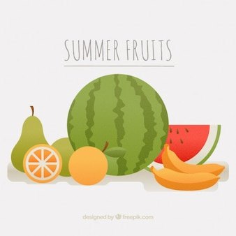 Summer fruit collection