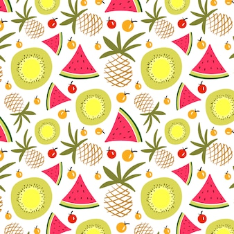 Summer fruits pattern