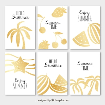 Summer golden cards