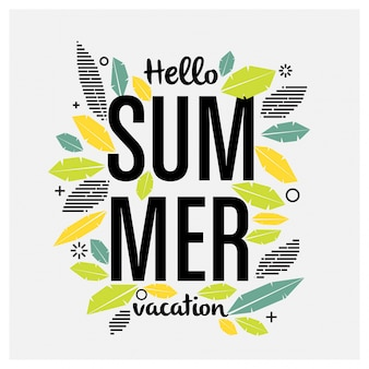 Summer greeting design