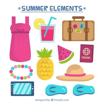 Summer holidays elements collection