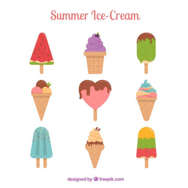 Summer ice cream collection