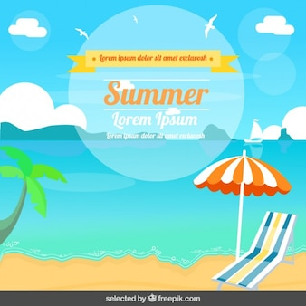 Summer illustration in flat design
