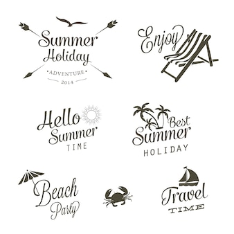 Summer logo vectors