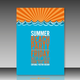 Summer mock-up vector