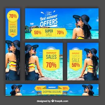 Summer offer banners