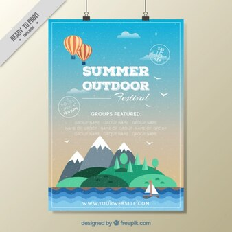 Summer outdoor festival poster