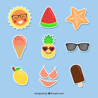 Summer pack of funny stickers