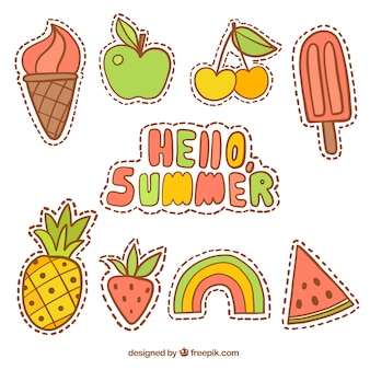 Summer patches with fruits