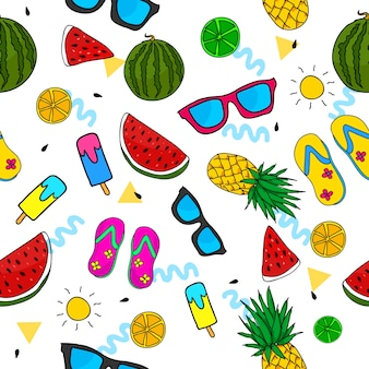 Summer pattern background